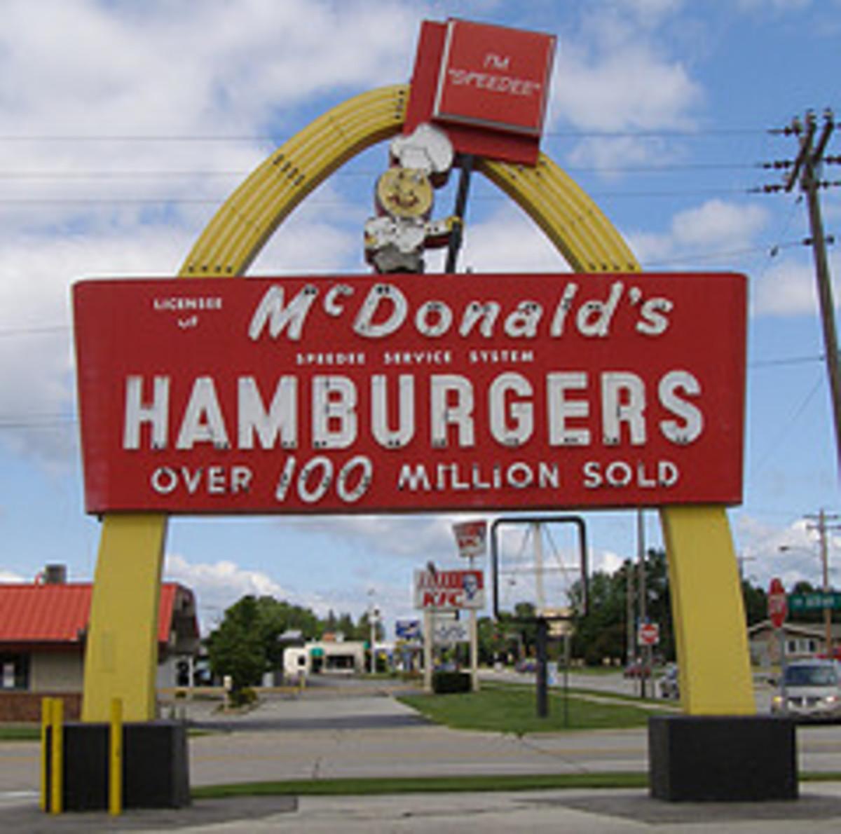 Old McDonald's Restaurant Sign