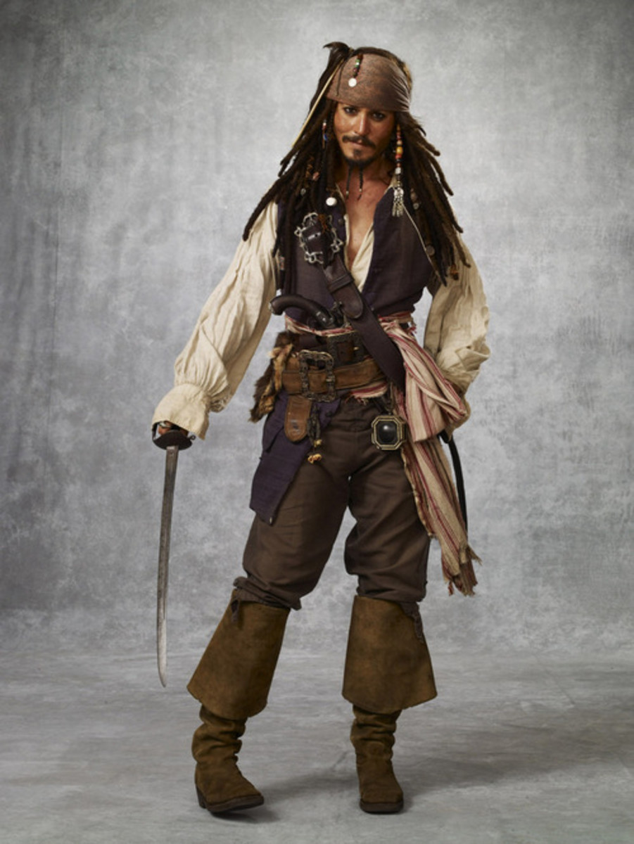 "Johnny Depp in ""Pirates Of The Caribbean"""