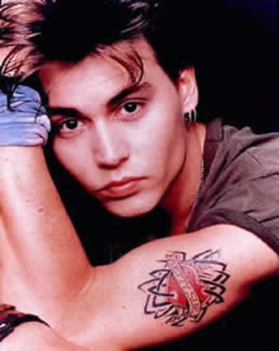 All the tattoos of johnny depp