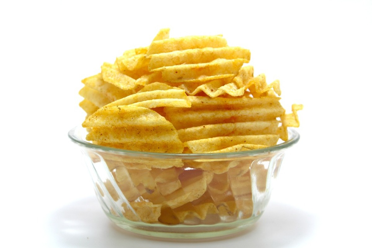 Potato chips are thin and very crispy, but they are usually deep fried, rather than baked in an oven.