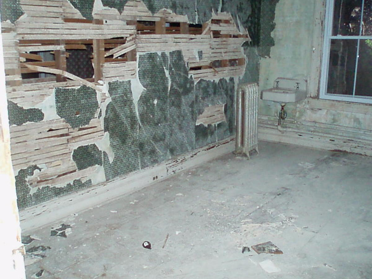 The rooms were all in various states of disrepair