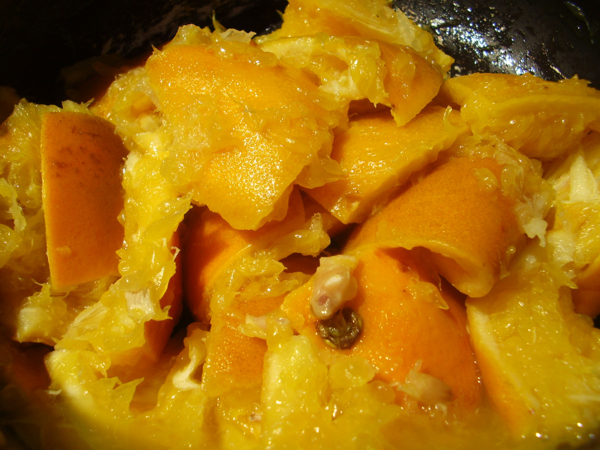 Mashed oranges