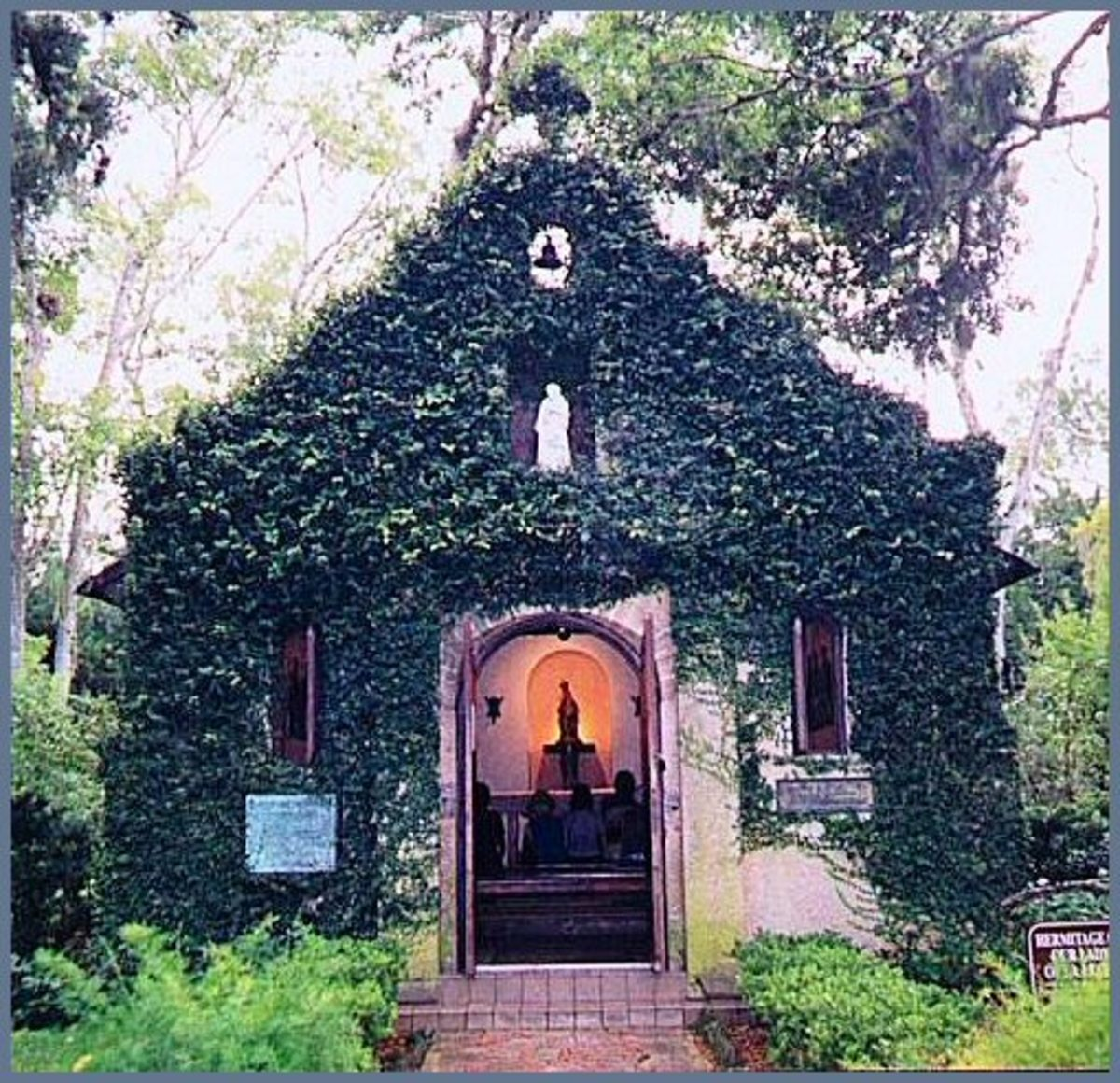 Our Lady of La Leche  Church on the Mission Grounds. It is also considered one of the most haunted sites in the USA.
