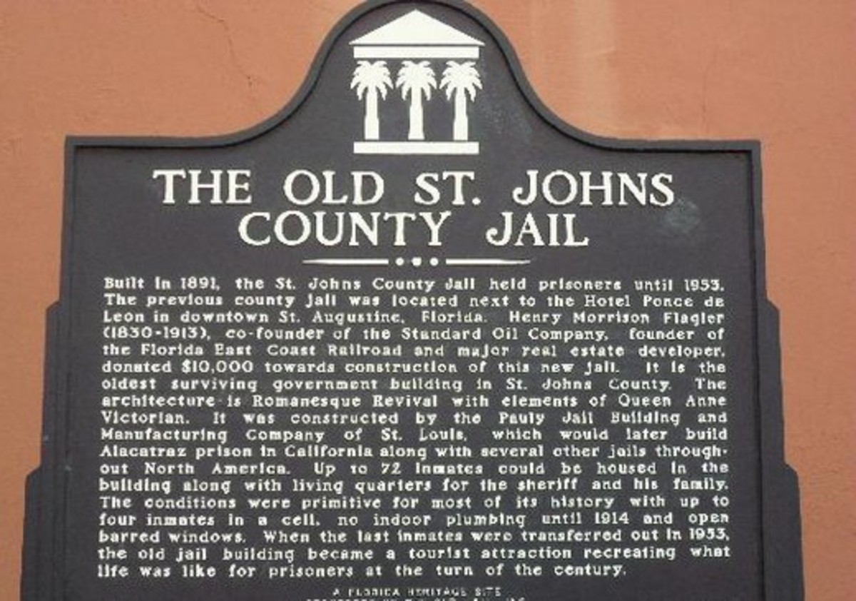 Here is the marker outside the Old St Johns County Jail in St Augustine Florida.