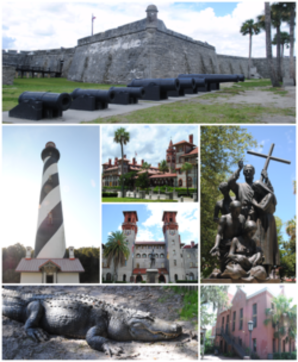 In this photo you can see some of the most popular locations around St Augustine Florida.