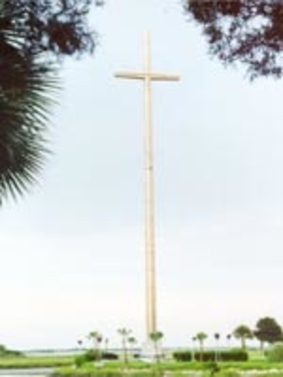 The 208' cross marks the celebration of the first Mass in the United States