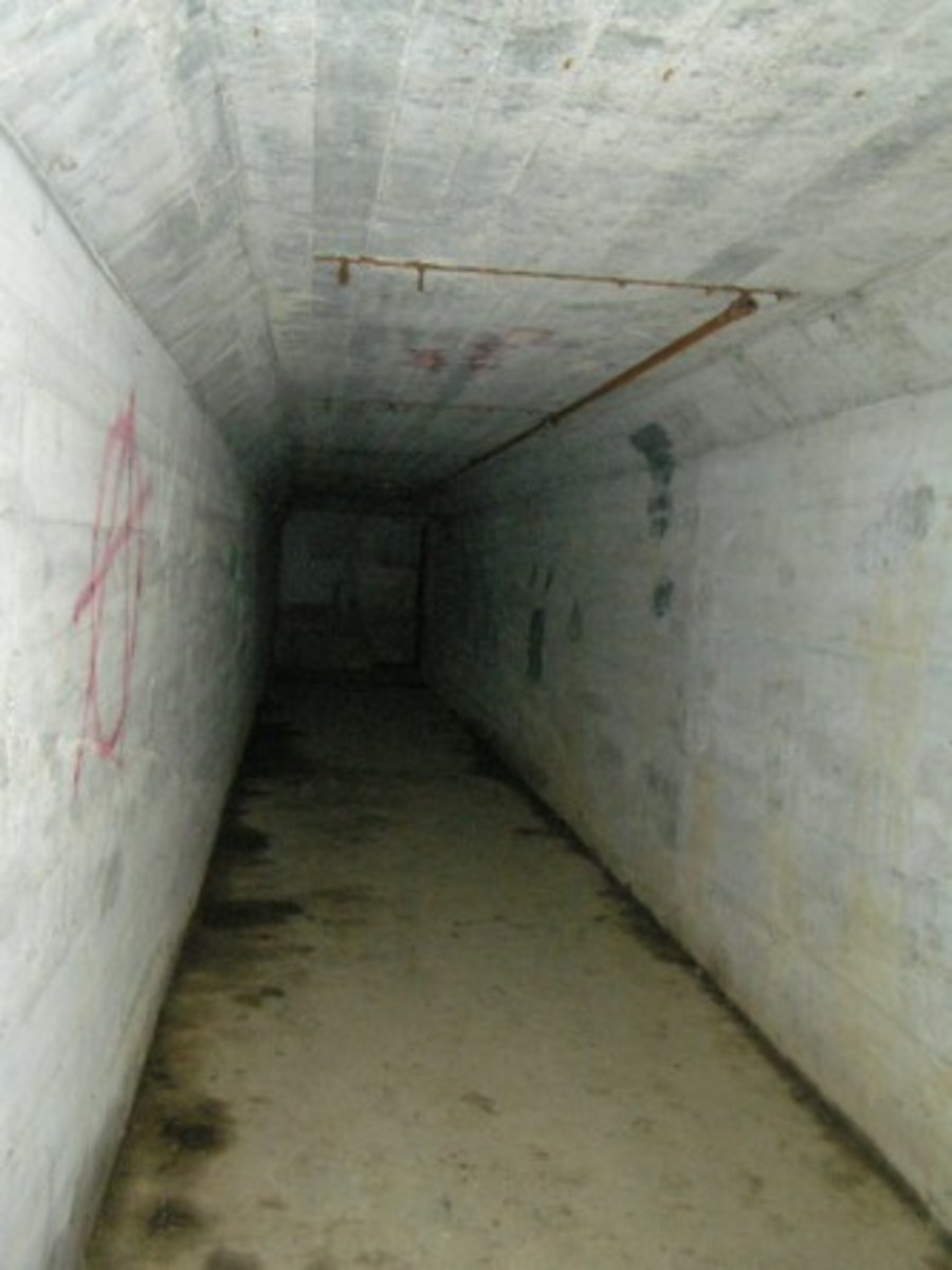 "The infamous ""Death Tunnel"""