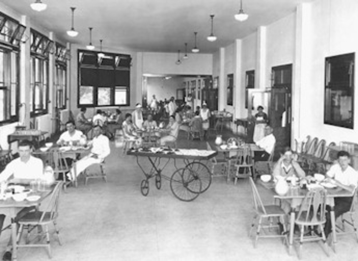 The cafeteria at Waverly Hills