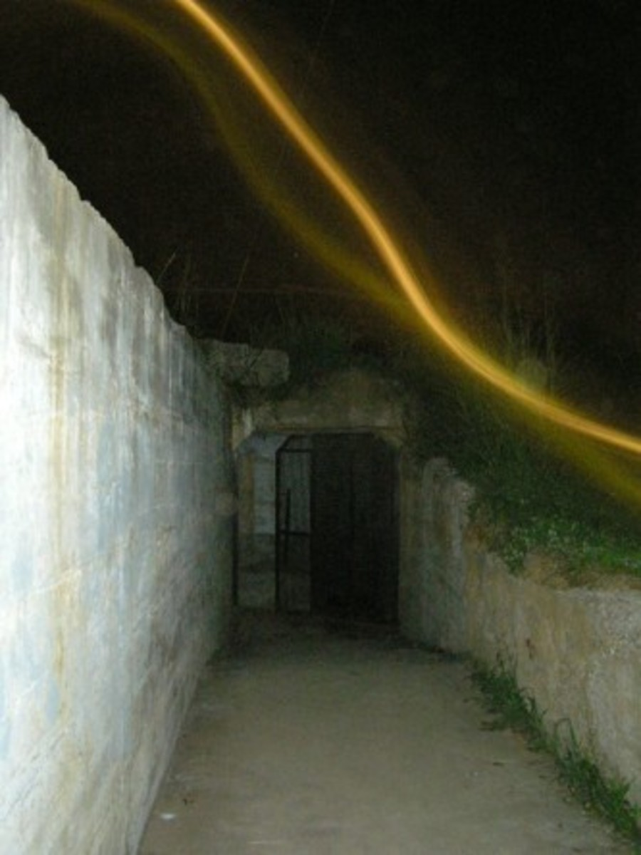 The folks over at graveaddiction.com caught orbs and streaks at the entrance to the death tunnel