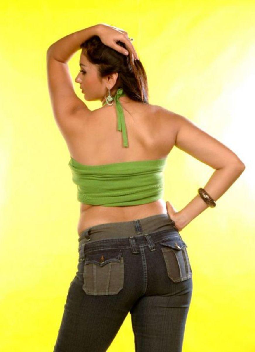 The sexy back pose Namitha