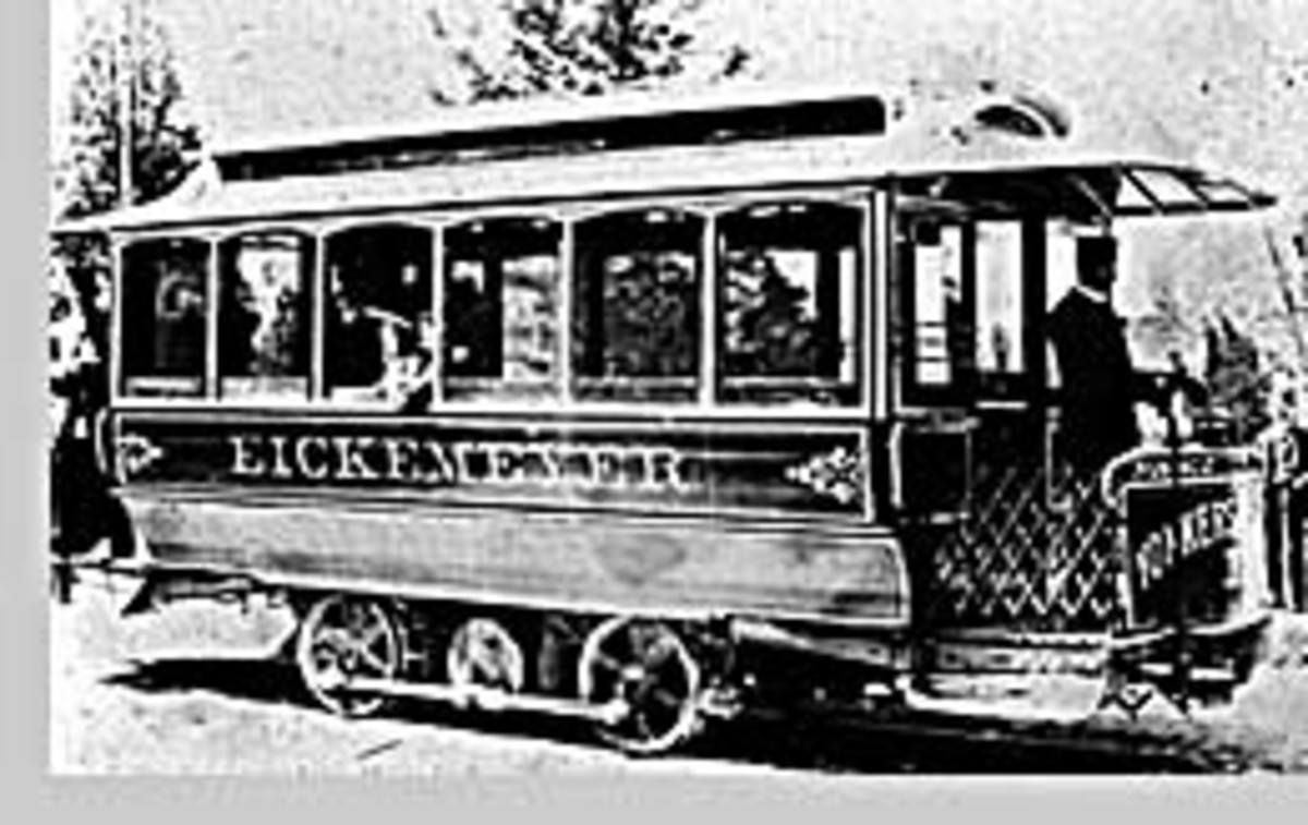 The trolley, in 1886, replaces the only public transportation in Yonkers, a horse-drawn stagecoach operating between Getty Square and Mount Vernon.