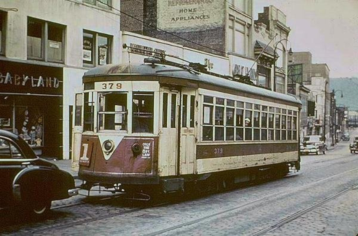 One of the trolley cars that took you all around Yonkers, N.Y., before the buses replaced them in 1952. The No. 1 trolley traveled on Warburton Avenue to Hastings-on-Hudson, and back to Getty Square where you could transfer to other lines.