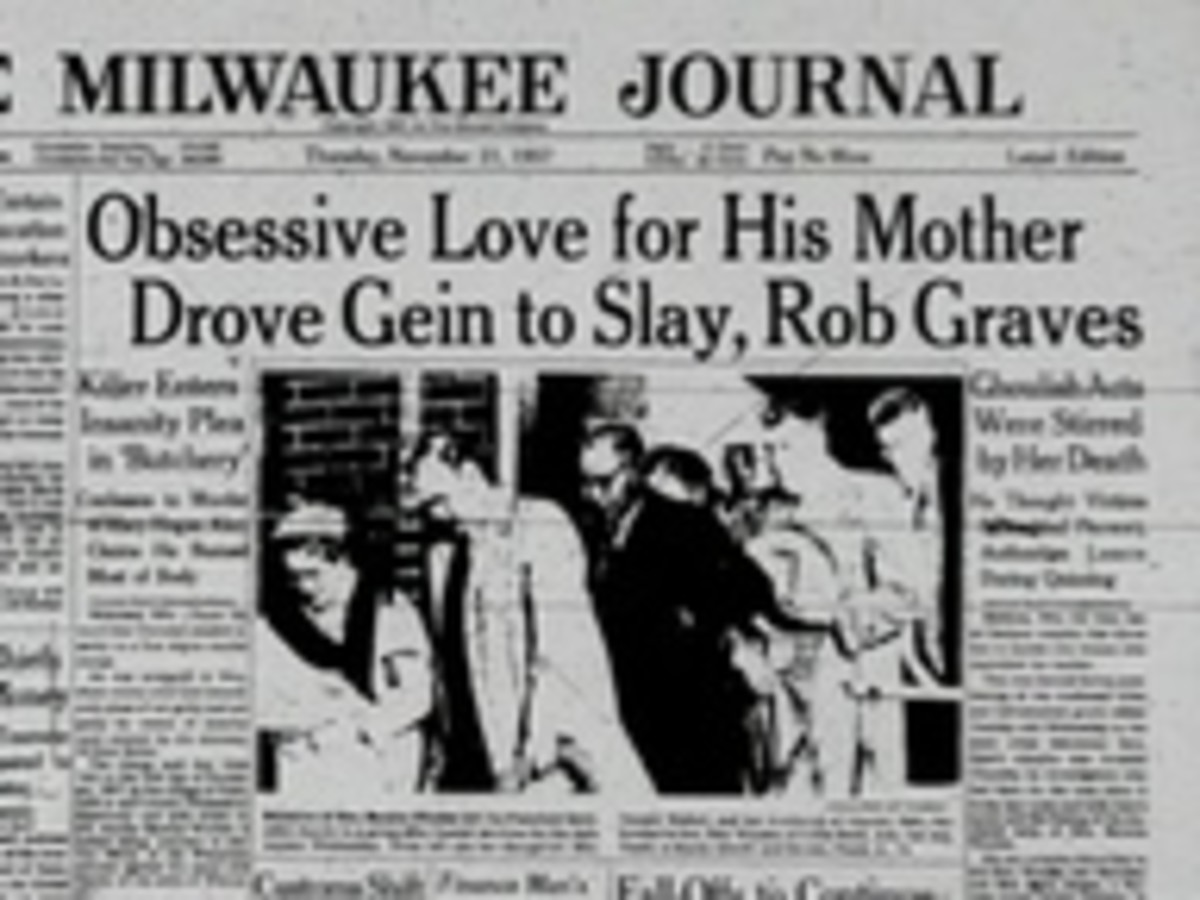 Newspaper With The Ed Gein Story