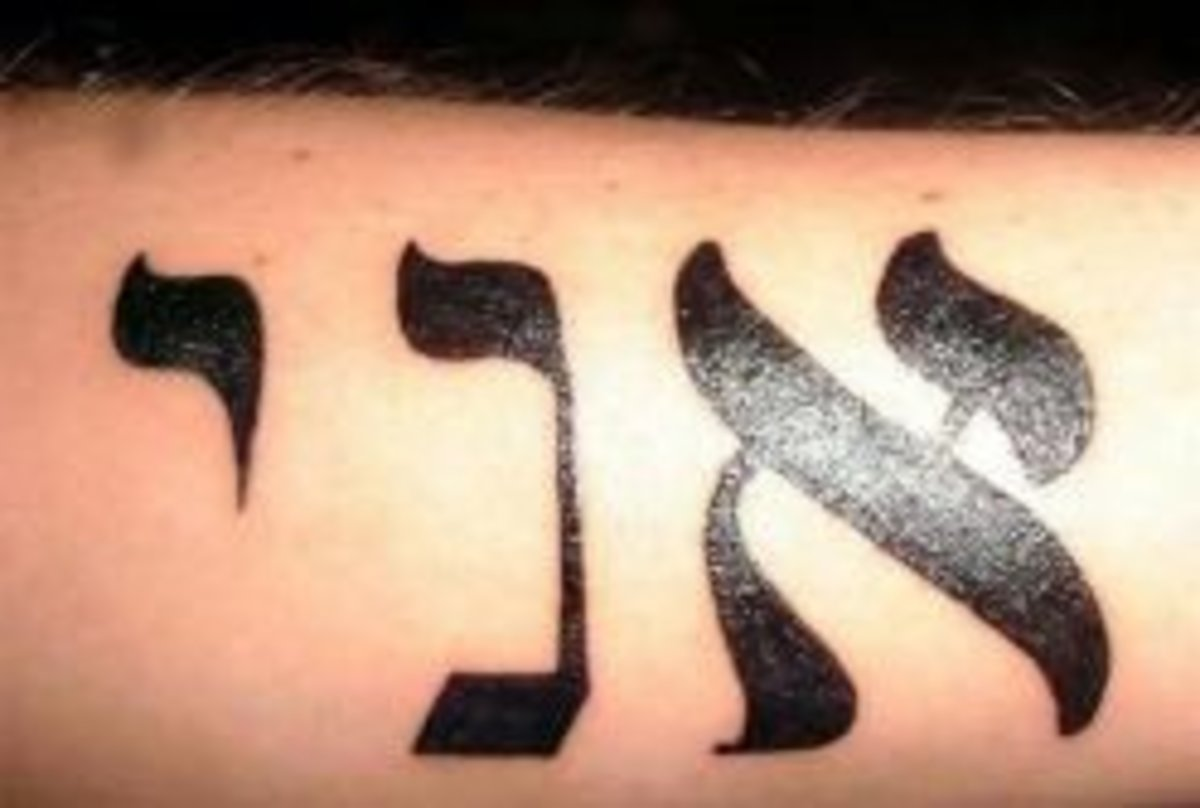 Tattoo Ideas: Hebrew Words + Phrases