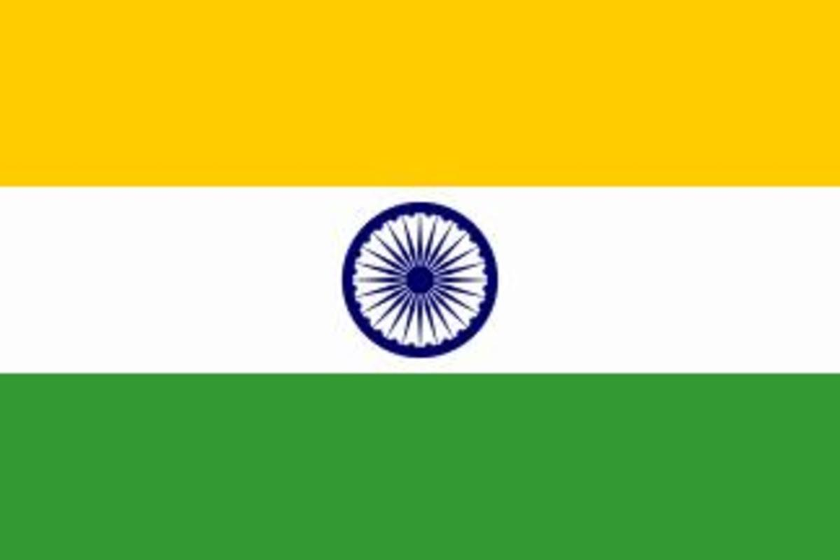 What is the meaning of the spoked wheel in the flag of India?