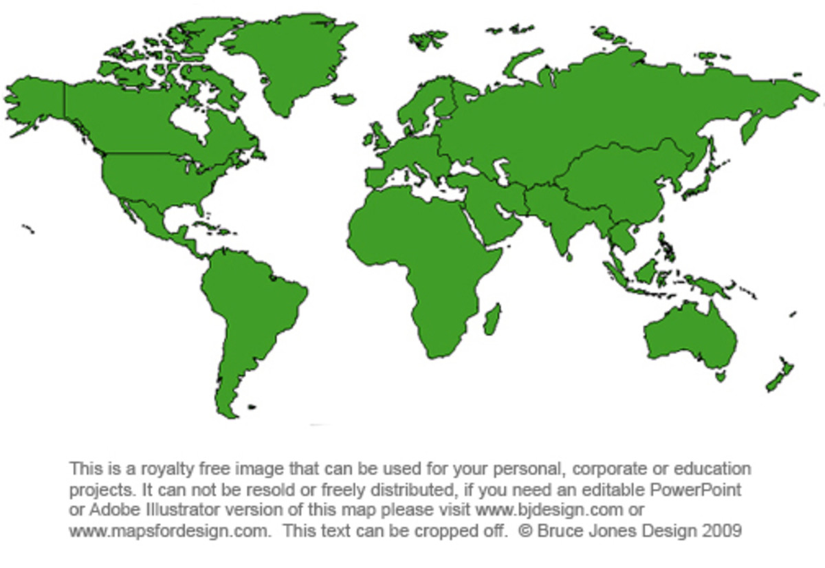 Royalty free World Projection jpg map. This map can be downloaded and used for your projects. To see more check out www.freeusandworldmaps.com