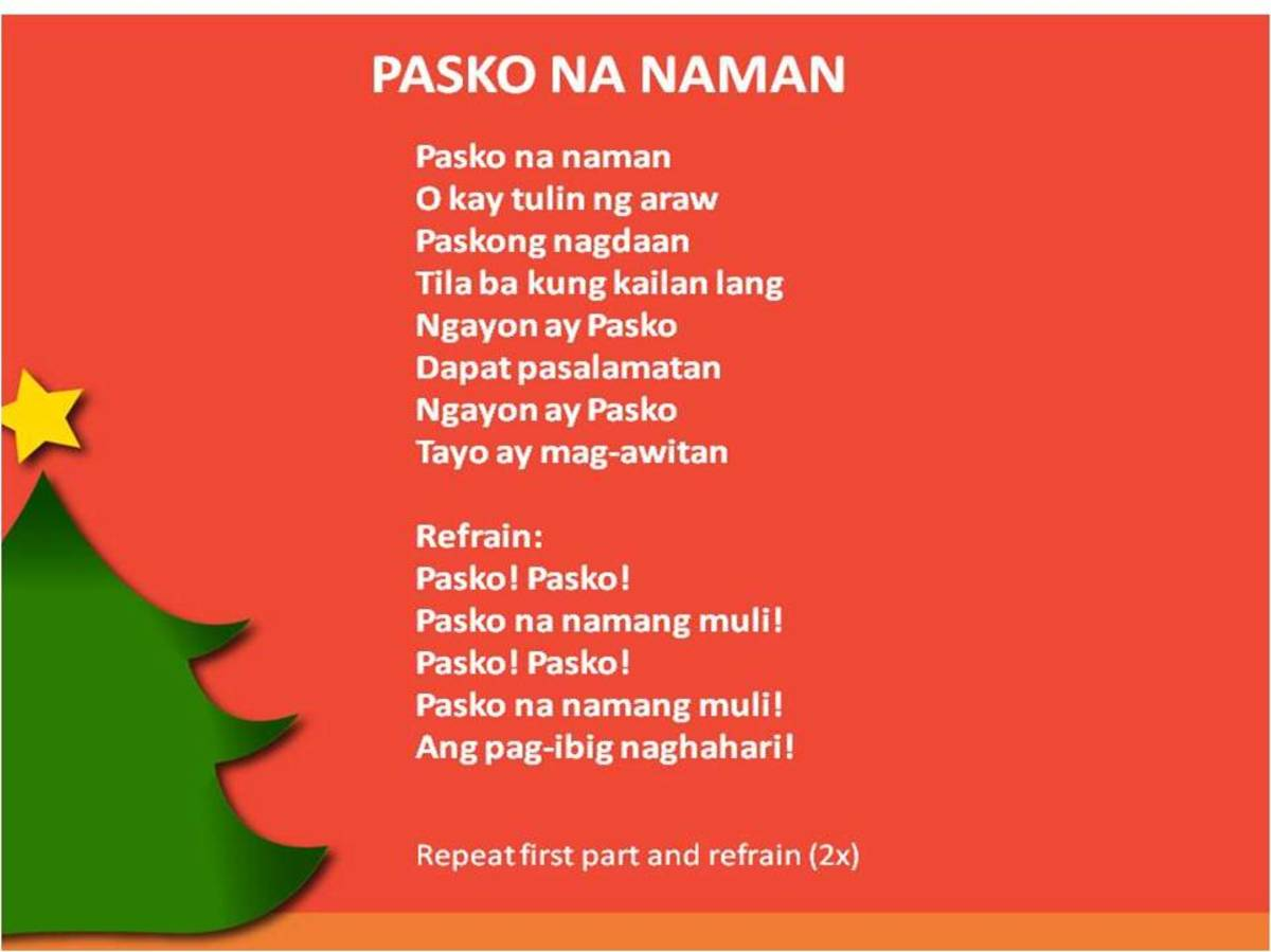 Tagalog Christmas song lyrics