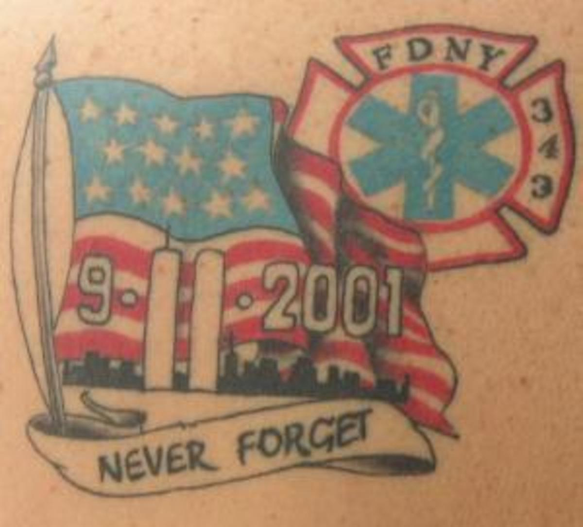 9/11 tattoos memorialize the infamous morning when terrorists flew two planes into the World Trade Center