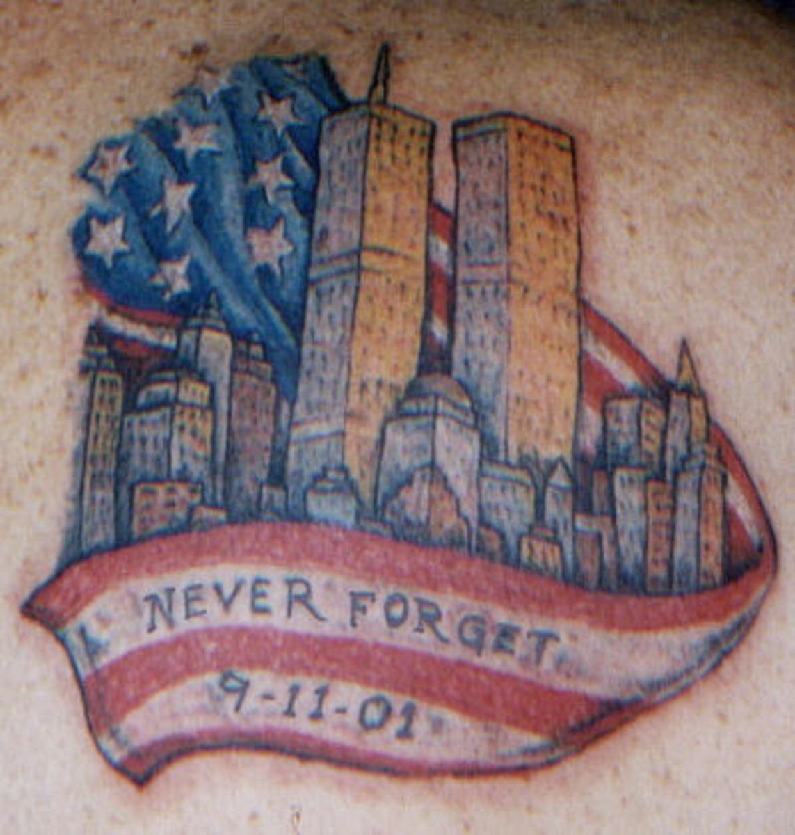 9-11-01 September 11 Memorial Tattoos