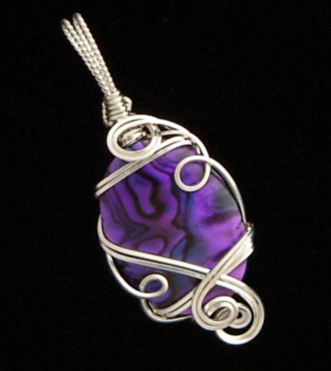 One of my sterling silver wire pendants