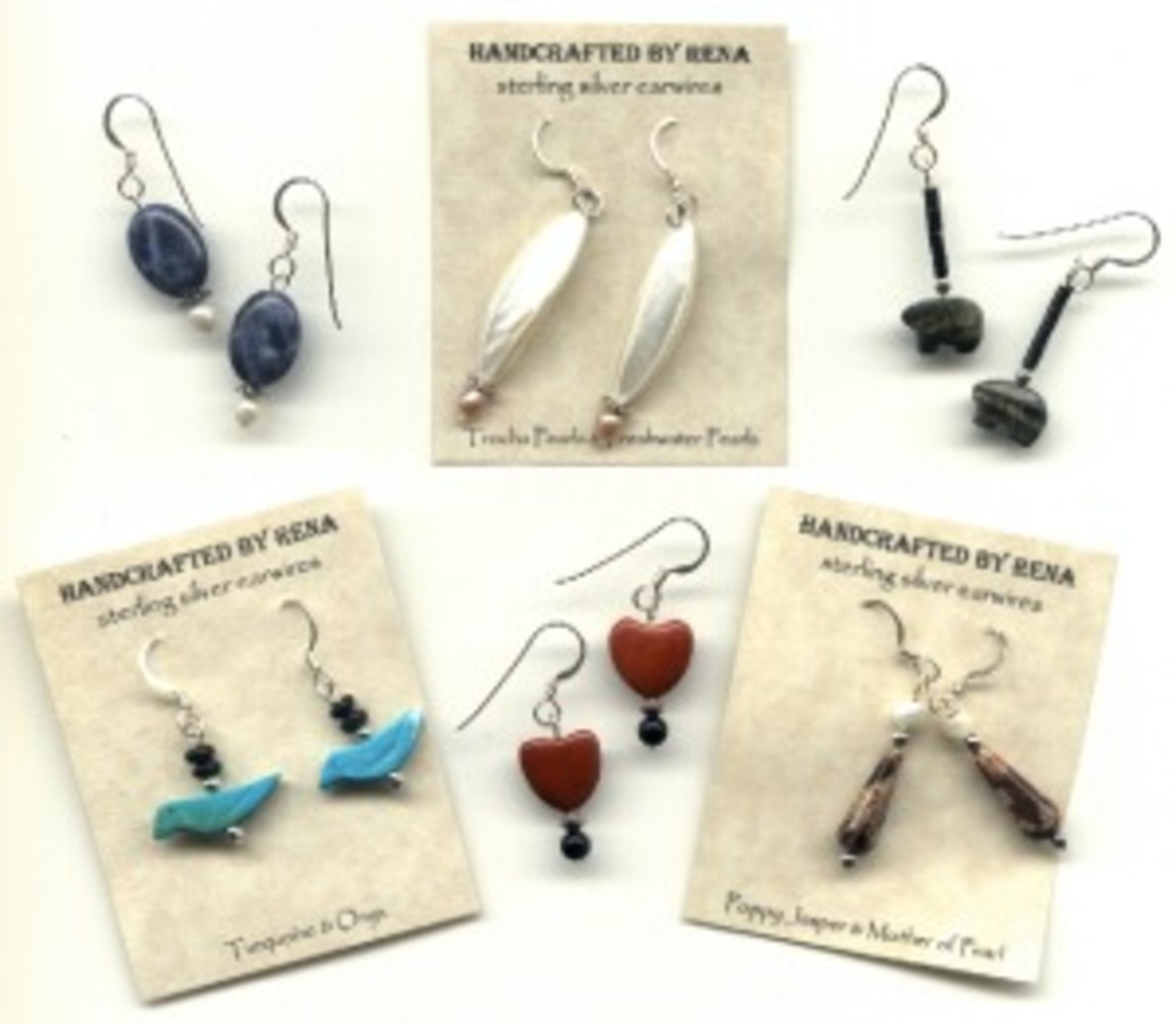 Some of my earliest earring creations - and one of my earliest attempts at photographing jewelry!