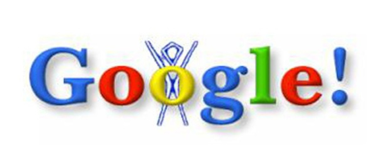 Google's first doodle - Burning Man stick figure.