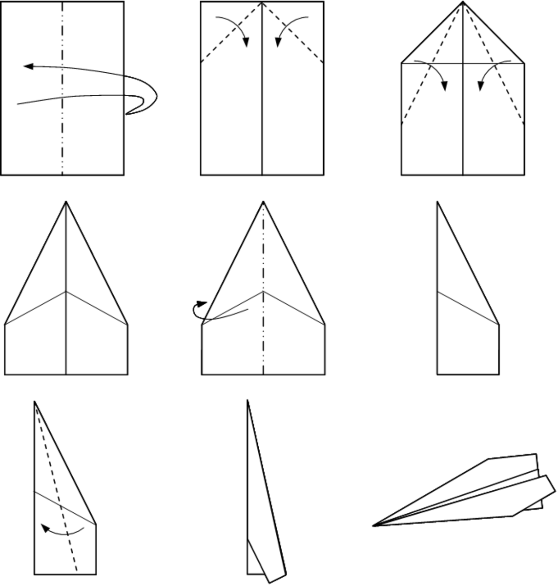 Another way to fold a paper airplane that will fly.
