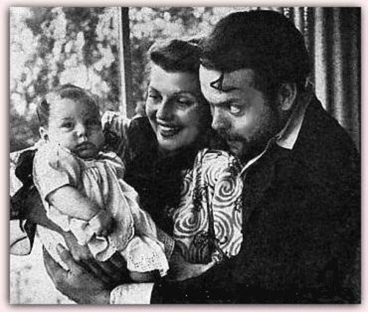 With Orson and baby Rebecca