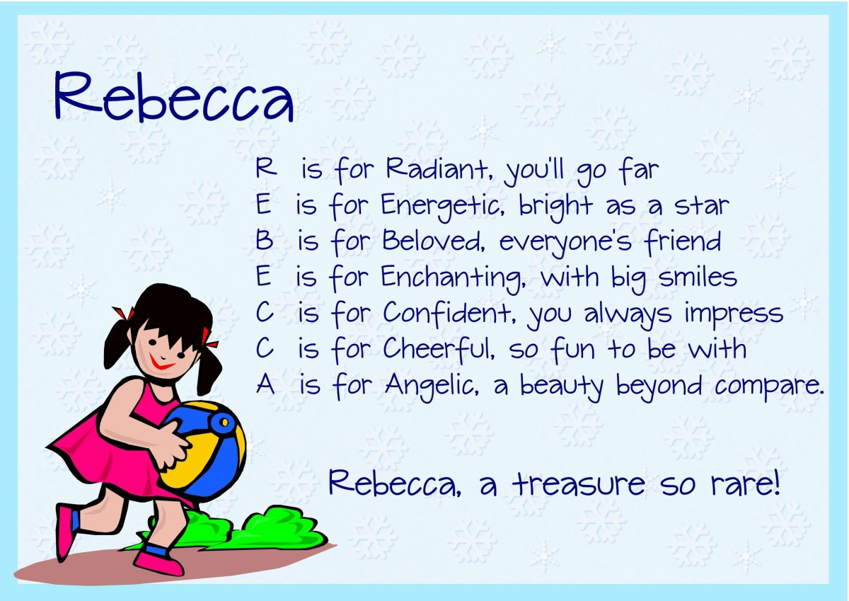Acrostic Name Poems For Girls Hubpages