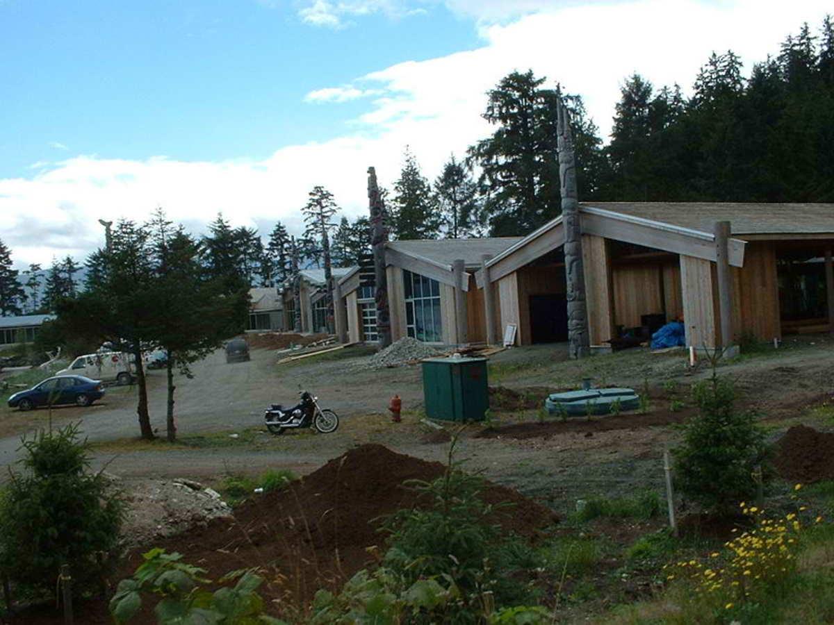 The Haida Gwaii Museum and Haida Heritage Centre;  Kaay Llnagaay, Haida Gwaii.