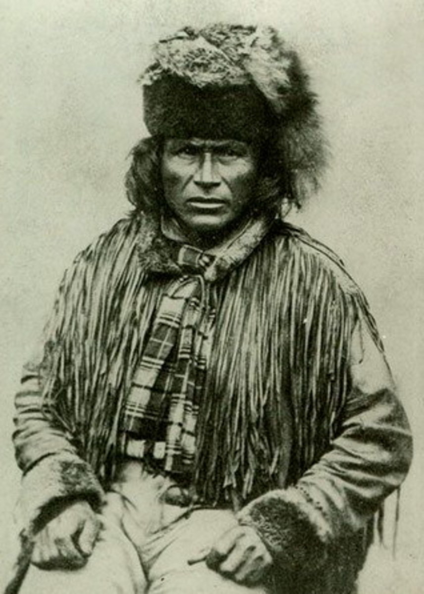 "Chief Tsil.husalst, ""Indian Chief of Fountain Band"" Image: BC Archives"