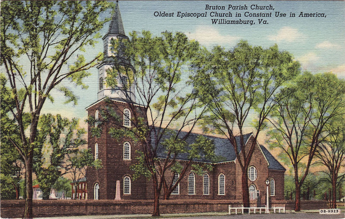 Historic places: A church in the Colony of Virginia.