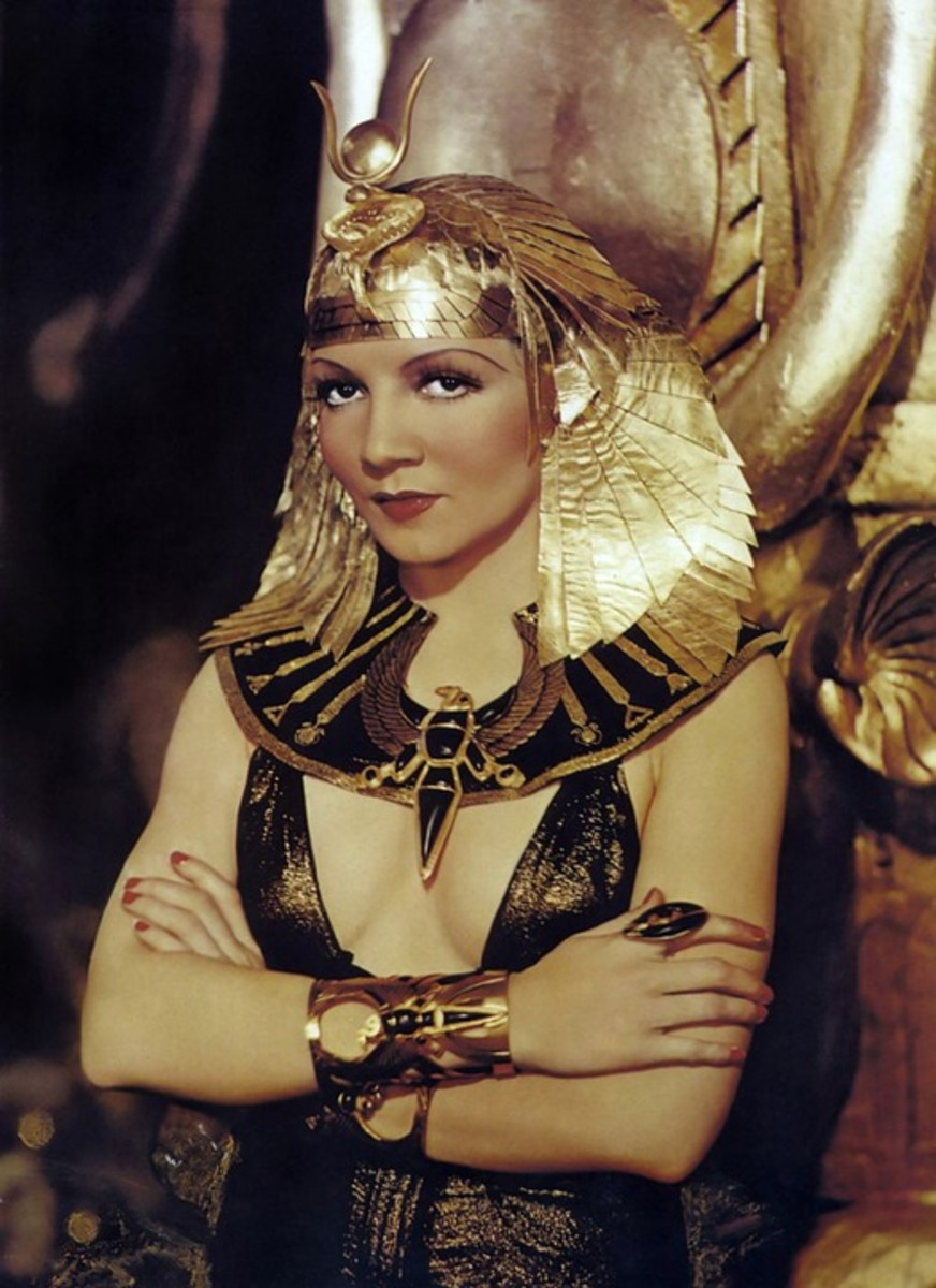 Ms. Colbert portraying Cleopatra.