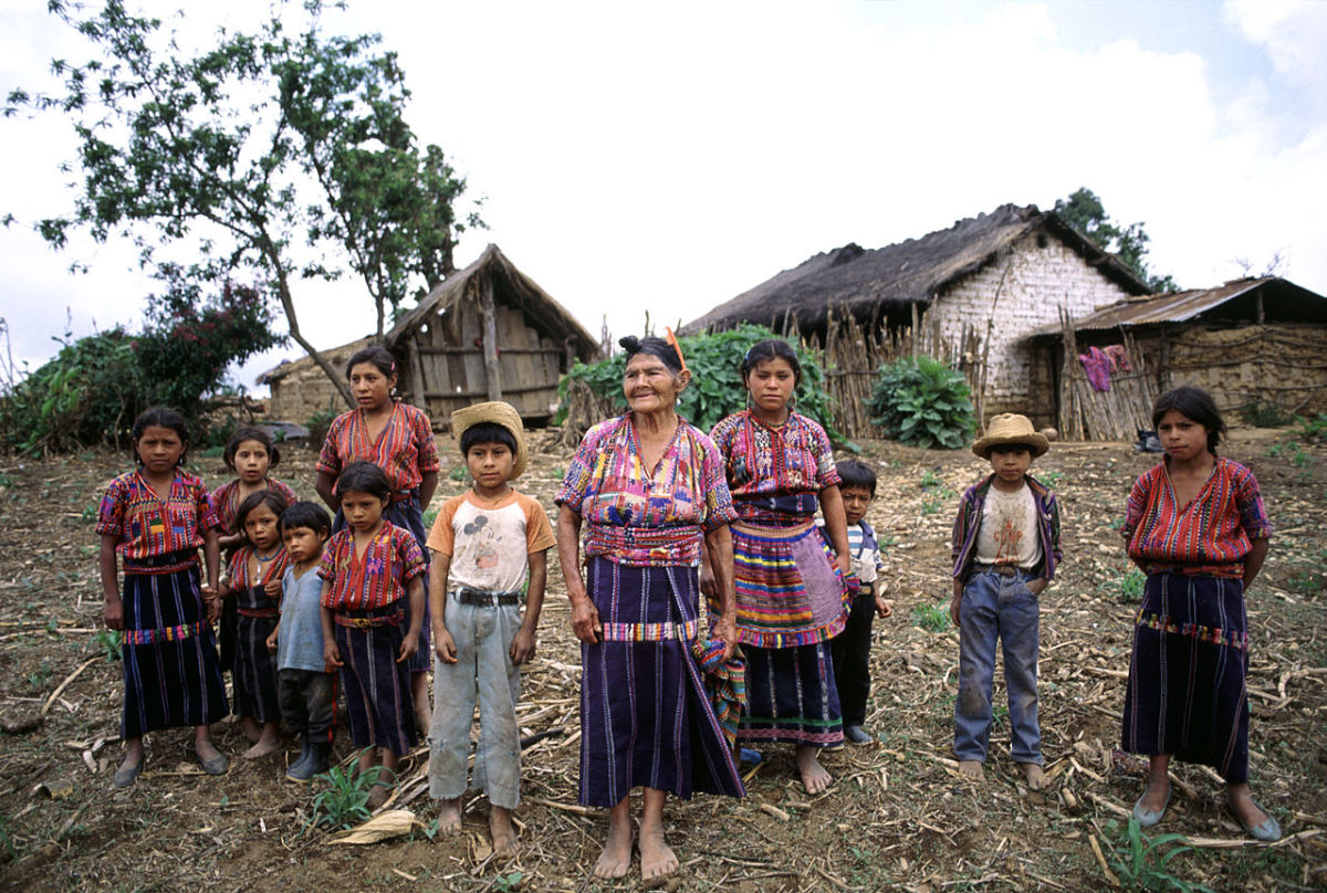 A Maya family in Guatemala in 1993.