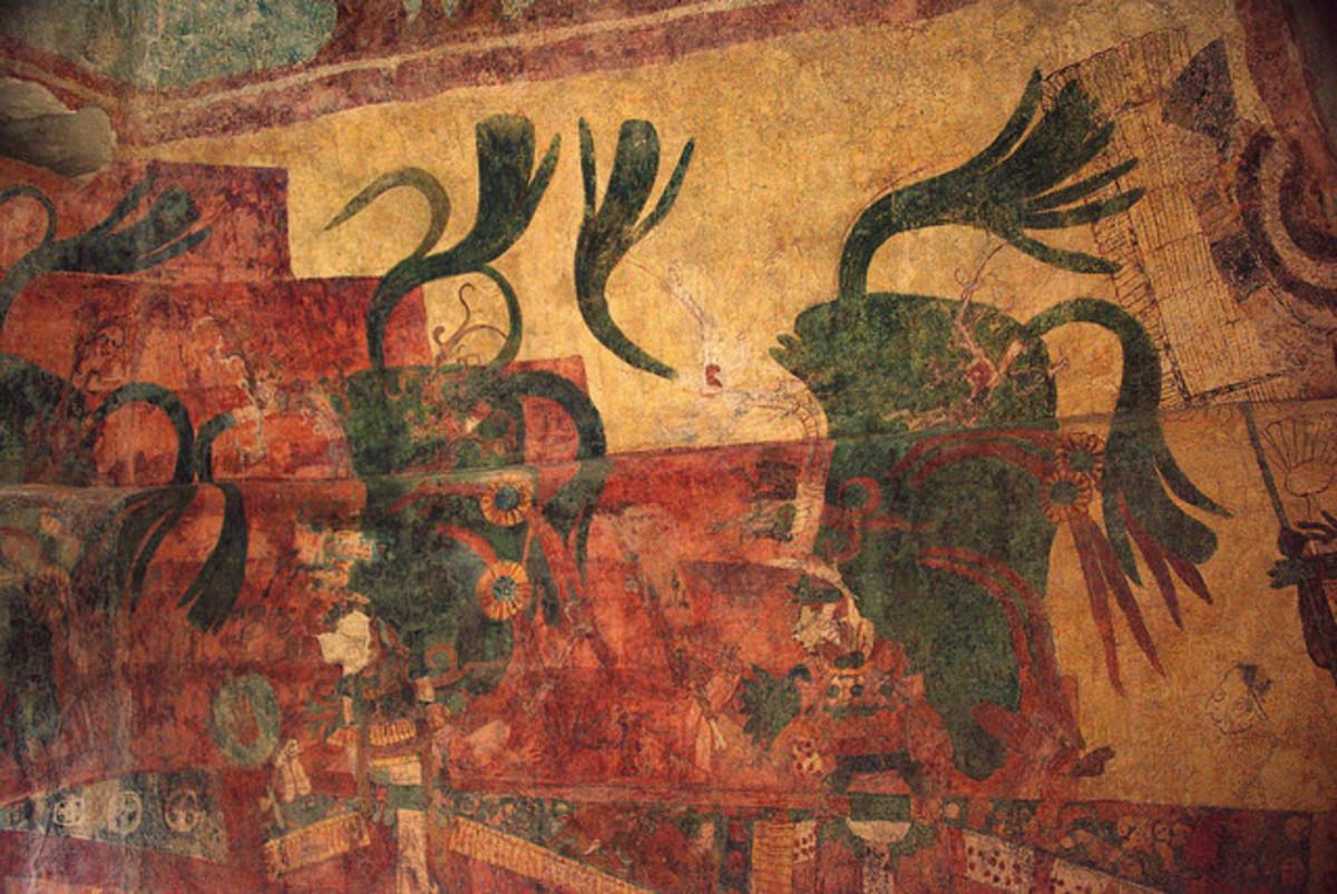 Mayan mural painting.