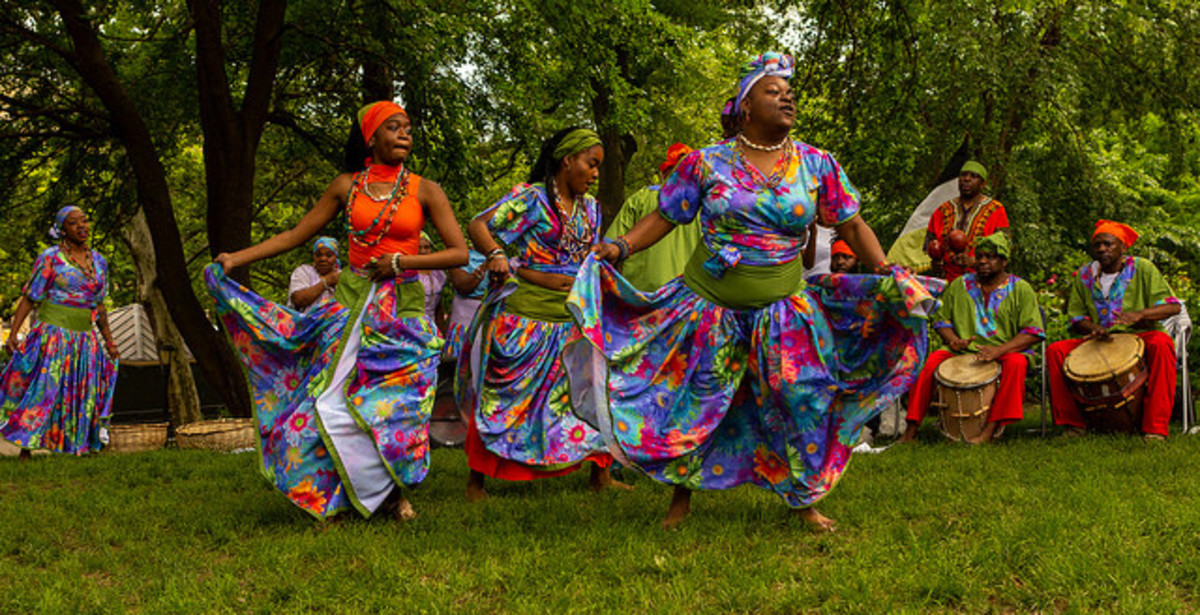 Garifuna dancers in Belize.
