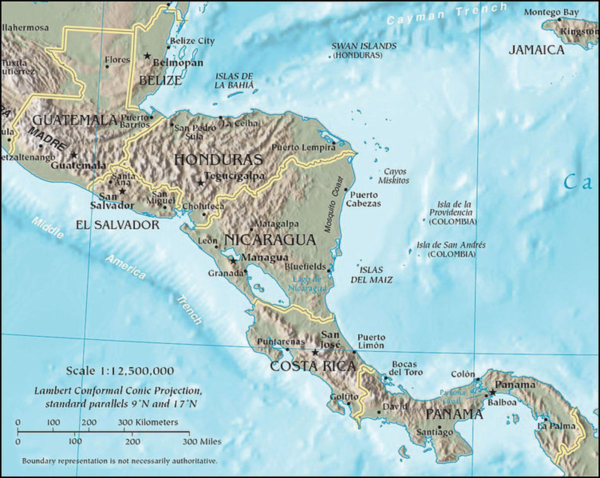 Native American Nations in Central America: Groups, Arts and Culture
