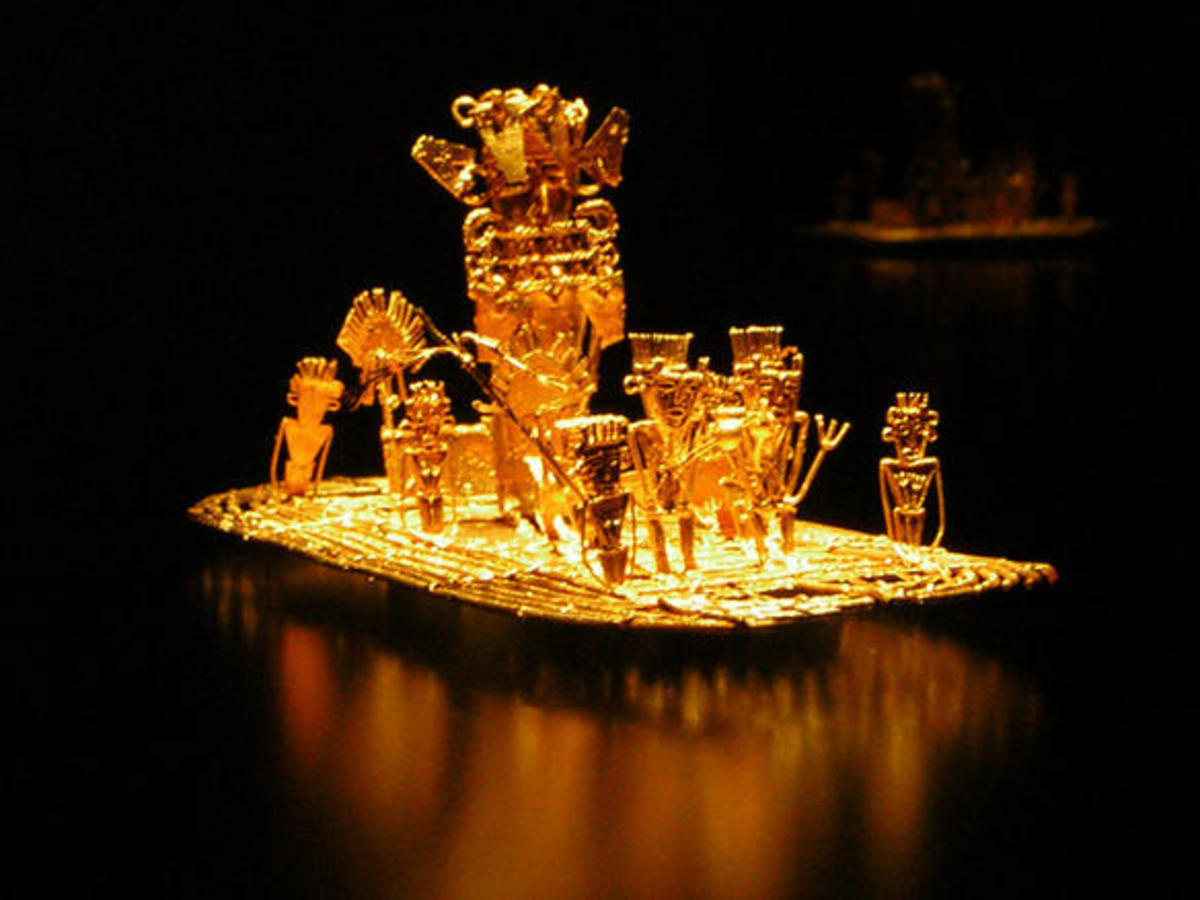 Gold work dated between 1200 and 1500 BC.