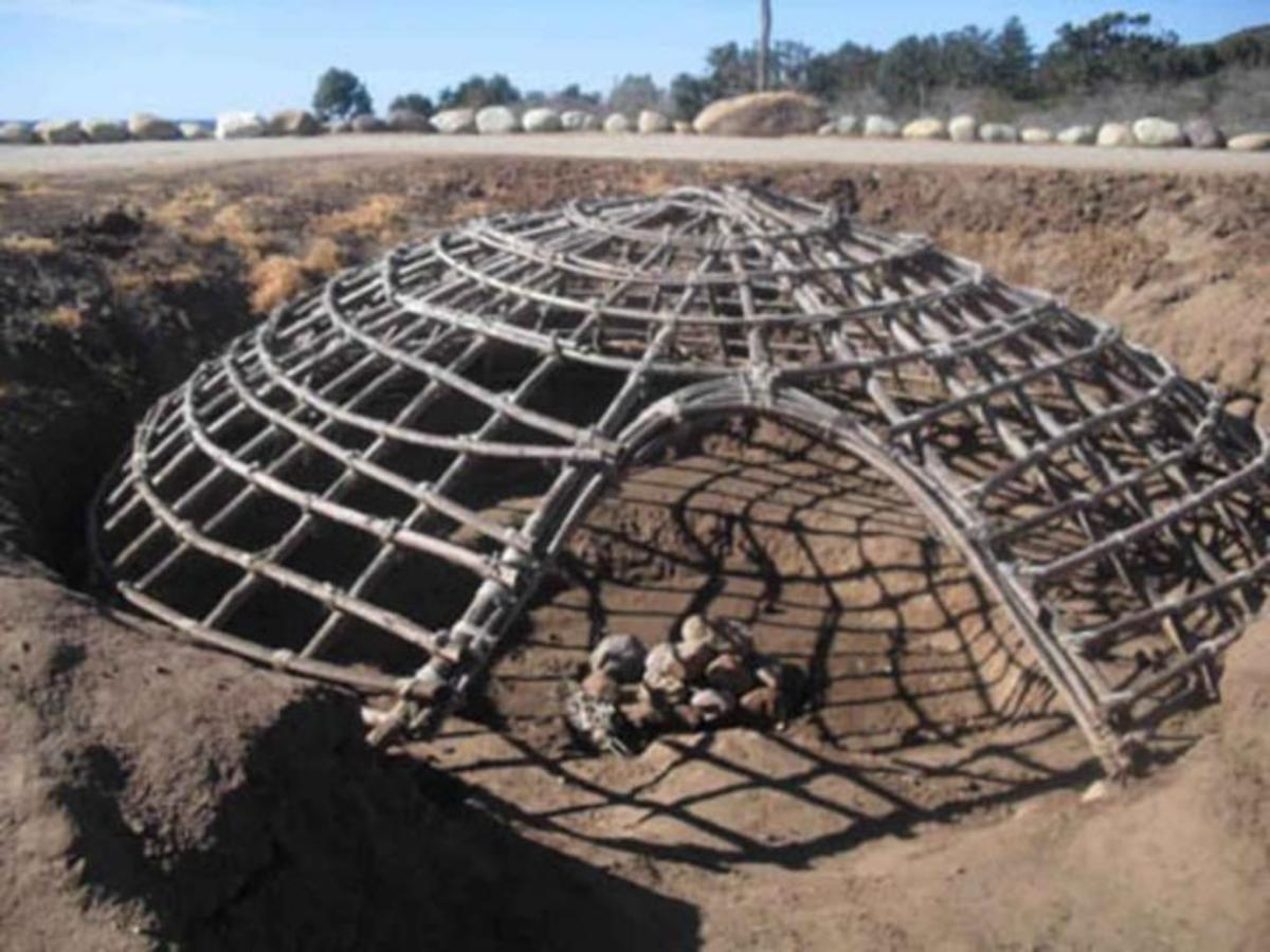 The framework of a sweatlodge.