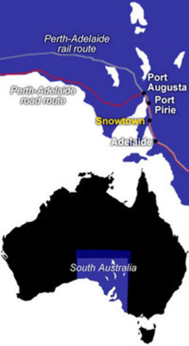 Map of Snowtown, South Australia
