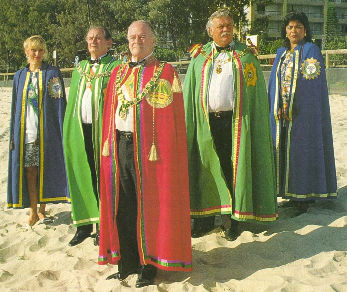 Hutt River Province citizens in regalia