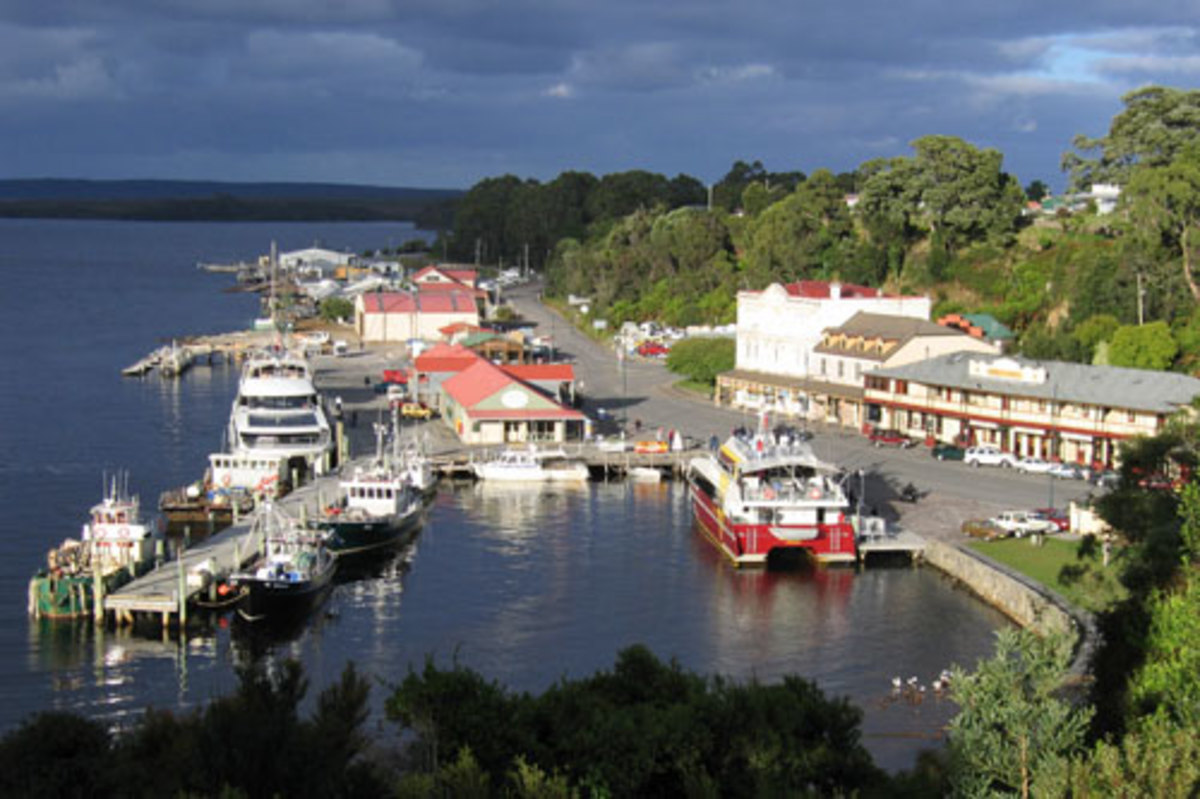 Strahan by the sea, Tasmania
