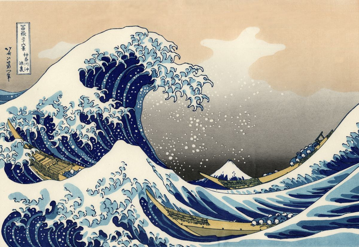 Behind the Great Wave at Kanagawa