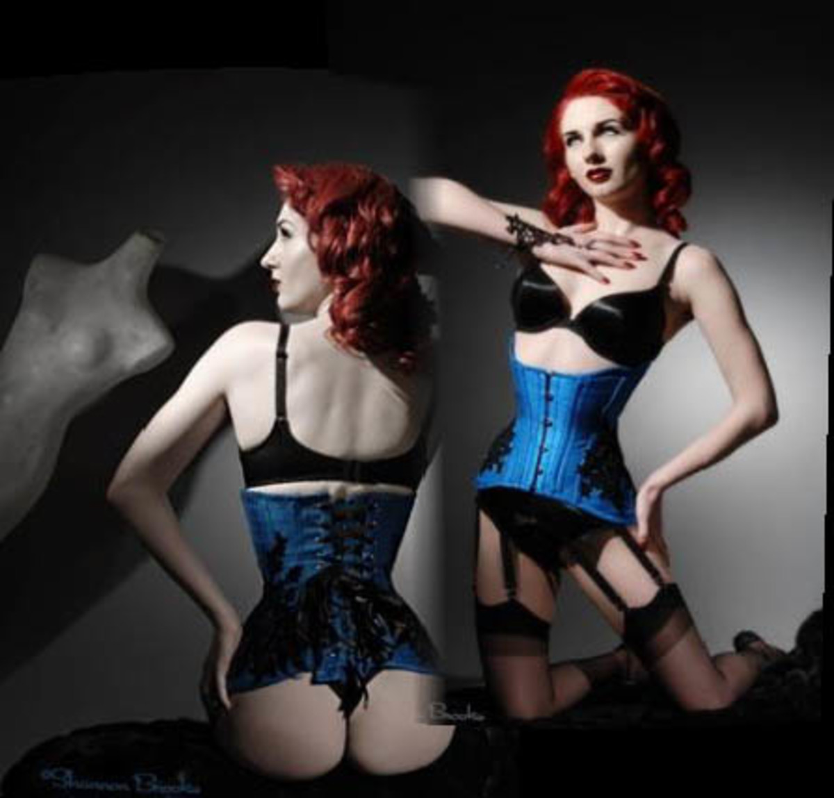 Model Angela Ryan wearing an Electra Design Corset;  www.angelaryan.com Photographer Shannon Brooke; www.shannonbrookeimaging.com