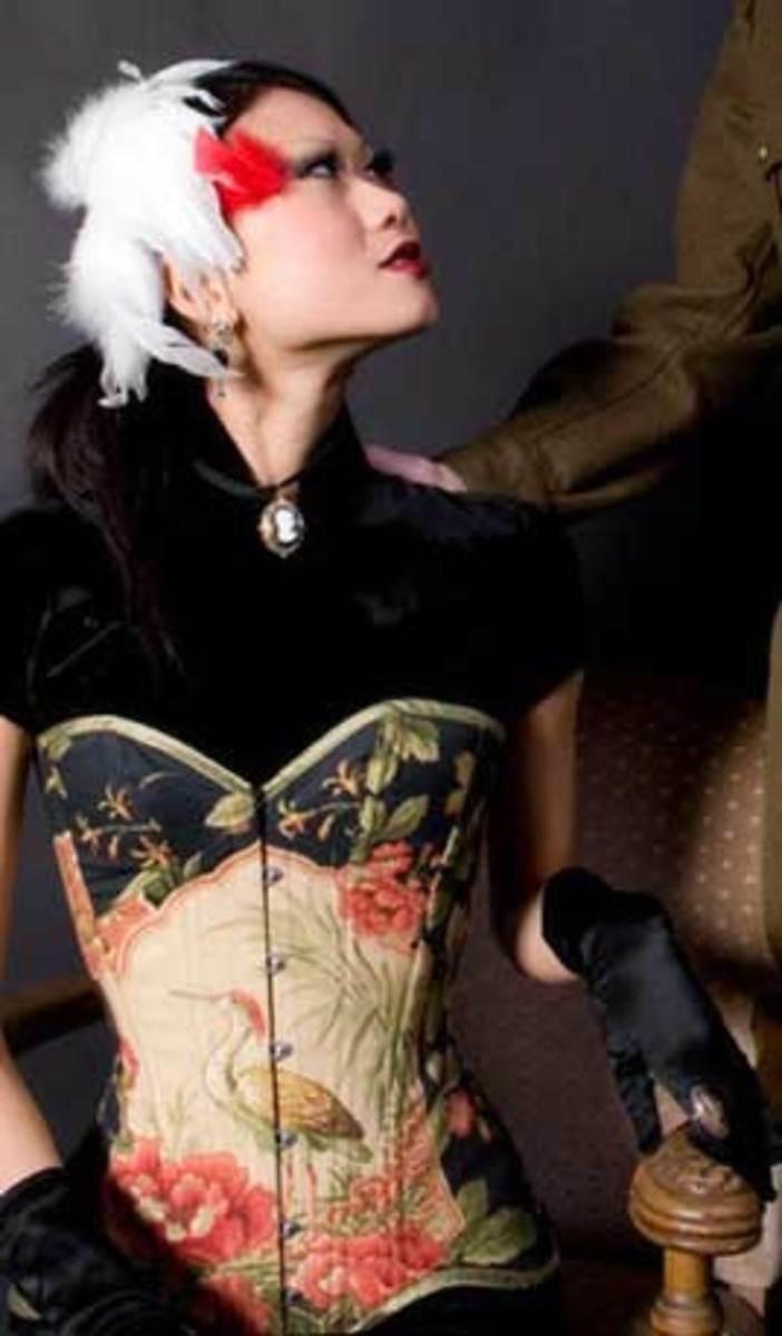 Model Shein Lee Wearing Heron Corset; Photographer Julia Capella Vona;  http://modelmayhem.com/member.php?id=248447