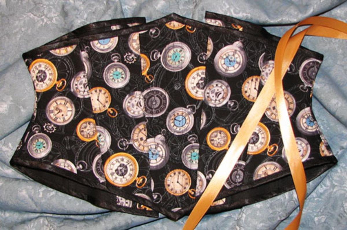 Steam Punk Pocket Watch Econo Waist Cincher