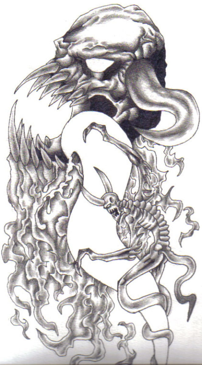 Demonic artwork by Wayne Tully - Be inspired and draw some demon art!