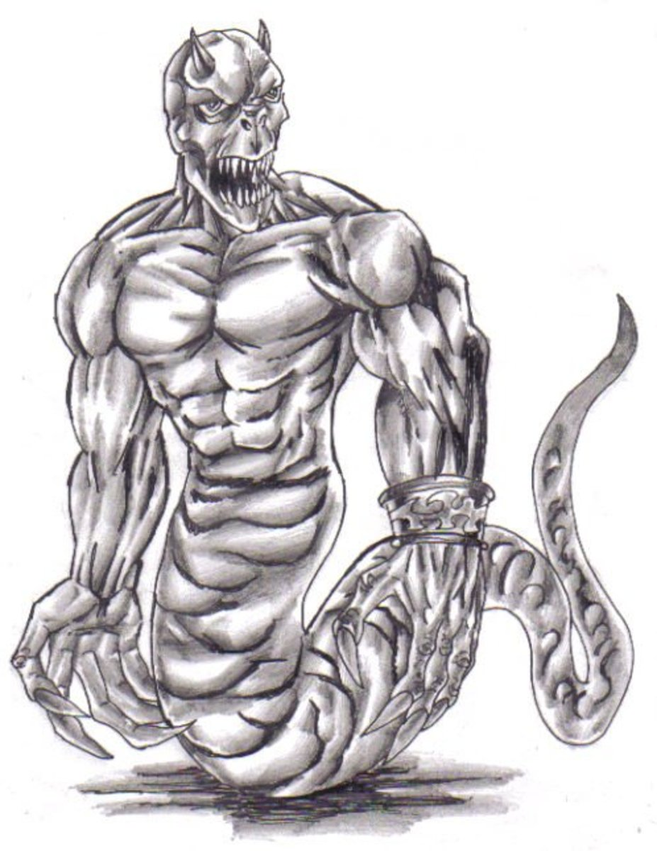 Shade the demon to add tone and depth. Demon art By Wayne Tully Copyright  2010