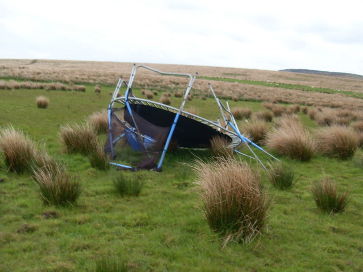Was this trampoline secured to the ground?