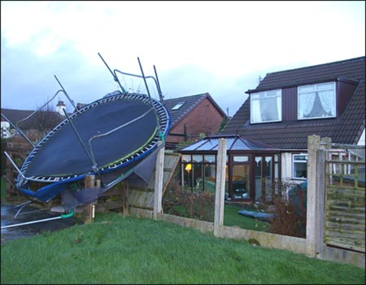 Unsecured trampolines can cause a lot of damage.